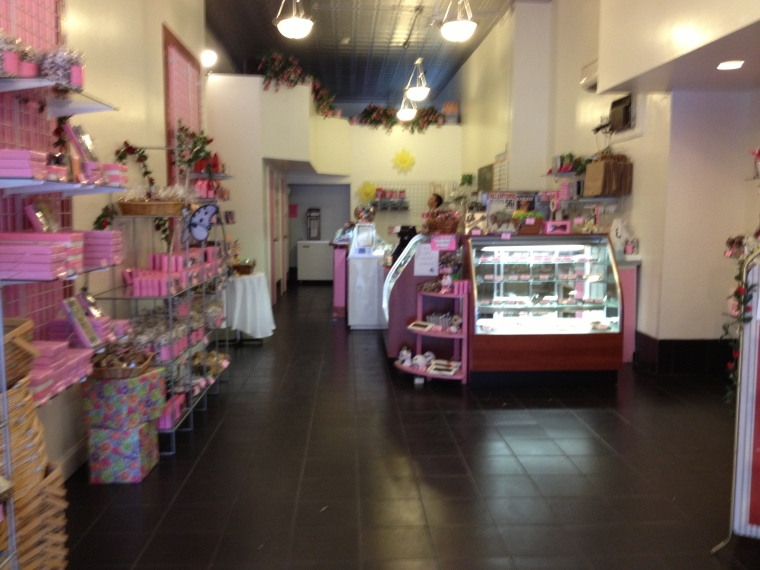 inside Fowler's- grab some chocolates to take home!