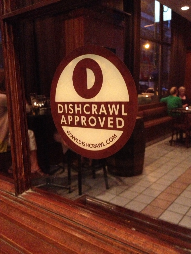 outside of Osteria 166. we told ya we would be back...& we were the next night! Dishcrawl Approved!