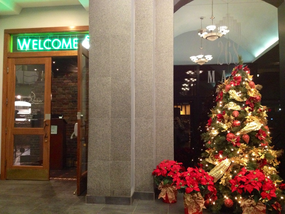 the entrance to The Archer from the 268 Main St. lobby