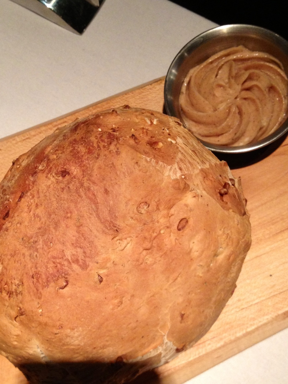 sunflower bread with whipped maple cinnamon butter