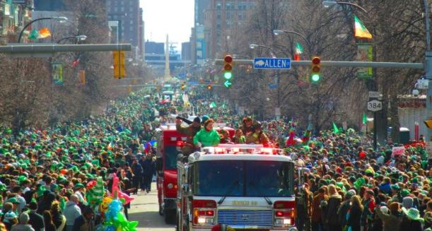 downtown Buffalo's St. Patrick's Day Parade