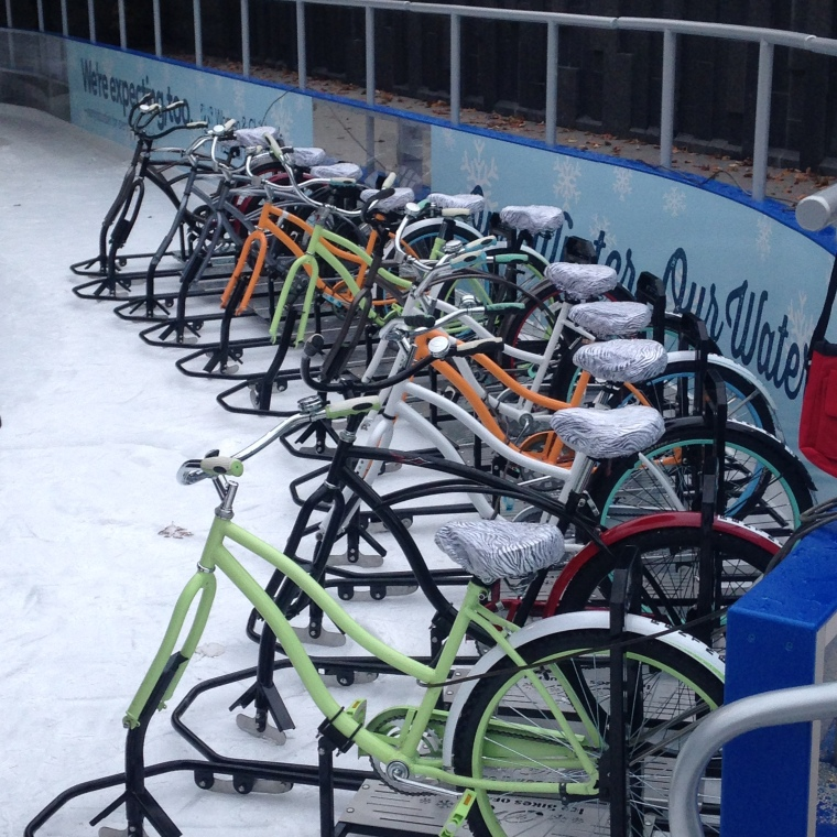 Ice bikes for rent at Canalside