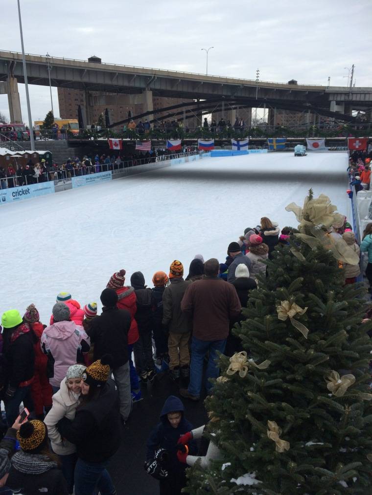 anxious ^ pumped up- people wait to get on the ice (scene from Winterfest, Jan. 2015)