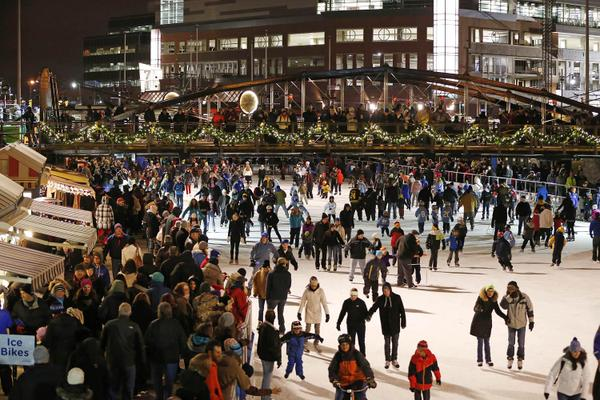 Canalside Ice Rinks (Buffalo News pic)