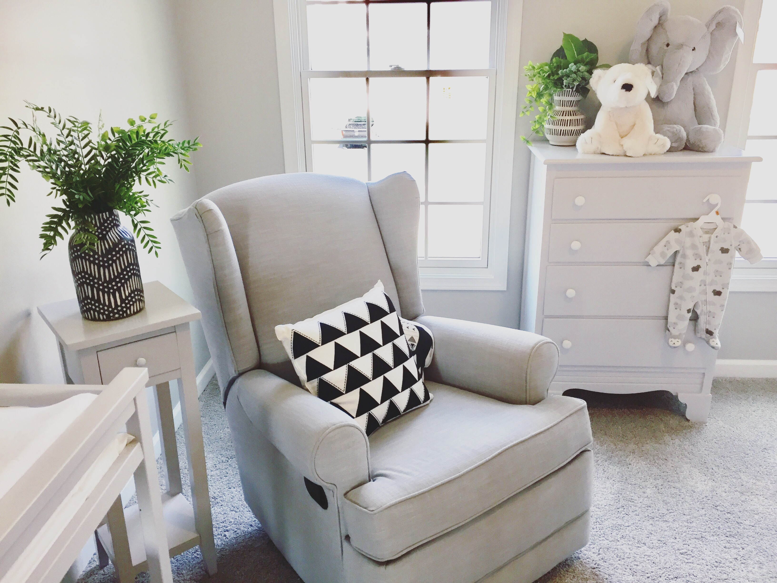 Early On Last Summer, We Knew We Wanted To Do A Monochromatic Room With  Greys, Whites, And Black. Babies See Blacks And Whites In Their Early Weeks  And ...